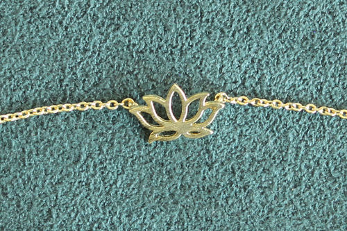 Armband Lotus golden